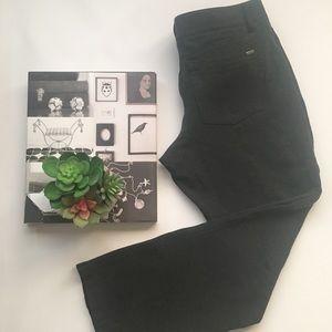 White House Black Market dark gray slim leg size 8